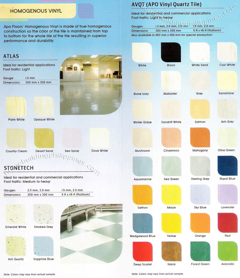 Apo Homogenous Vinyl Floors Flooring Philippines