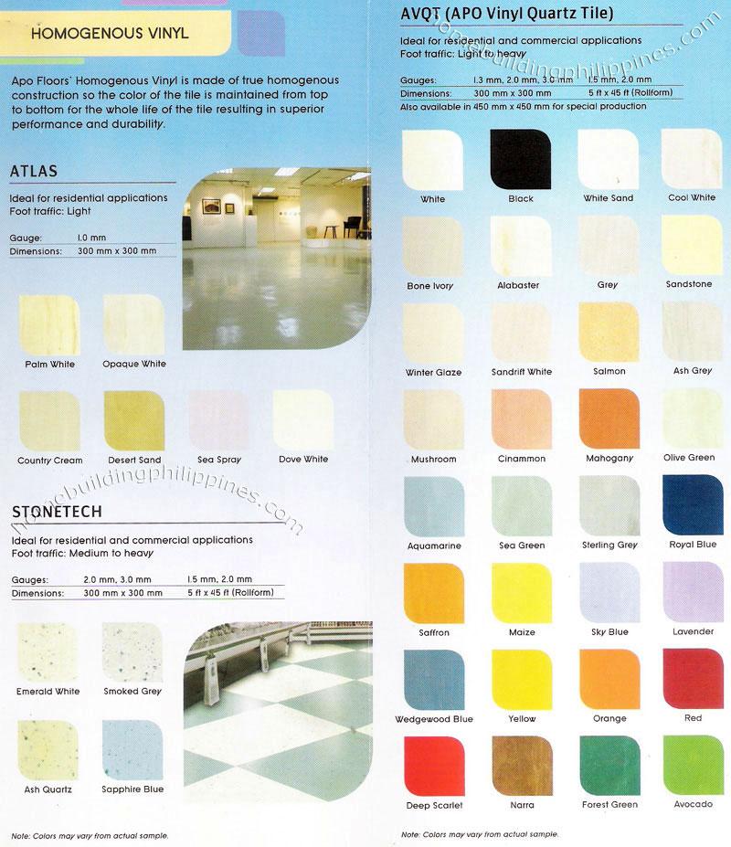 Apo Homogenous Vinyl Floors Flooring Philippines