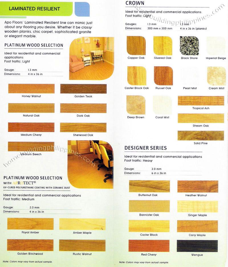 Apo Wood Carpet Granite Marble Design Vinyl Flooring