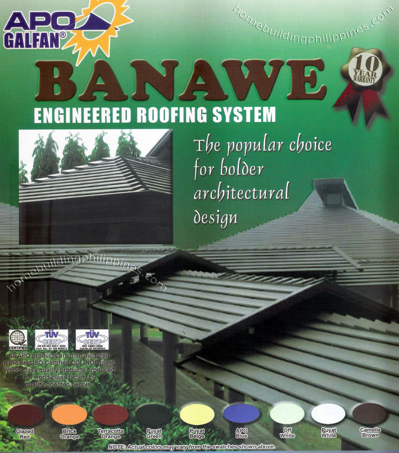 Apo Galfan Banawe Engineered Roofing Colors Philippines