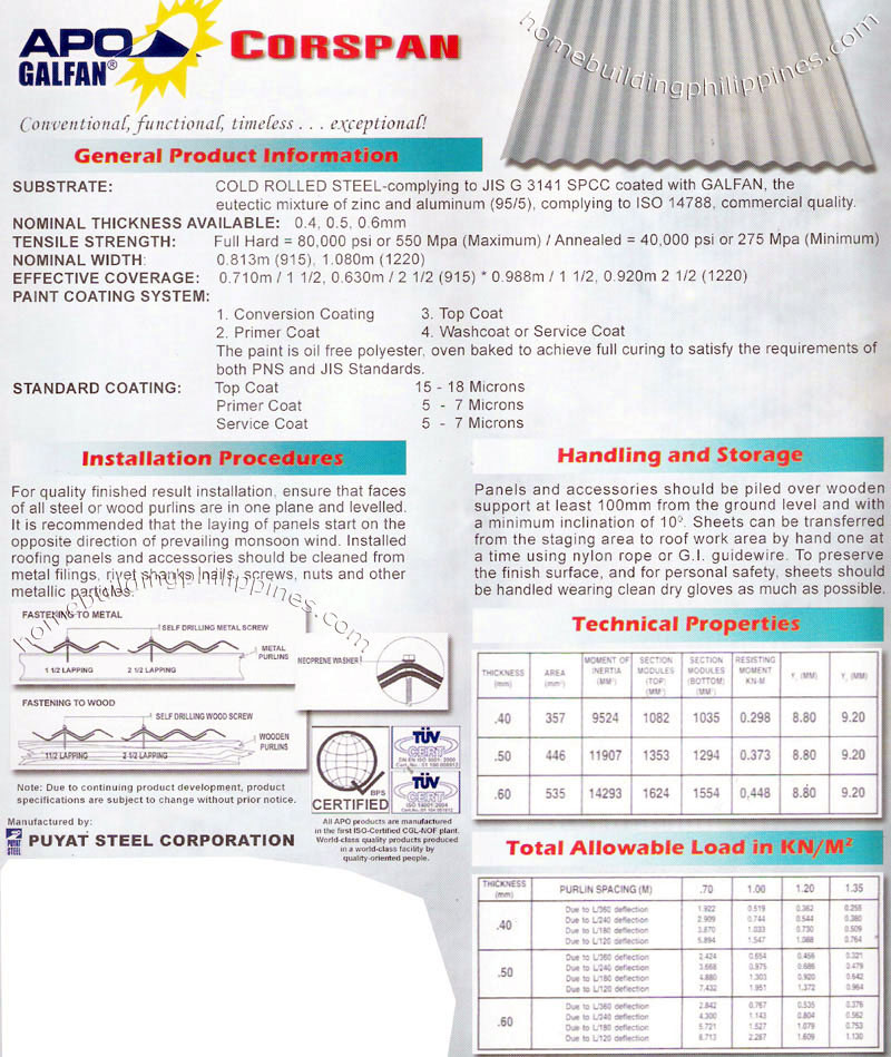 Corrugated Steel Roofing Installation Handling Amp Storage
