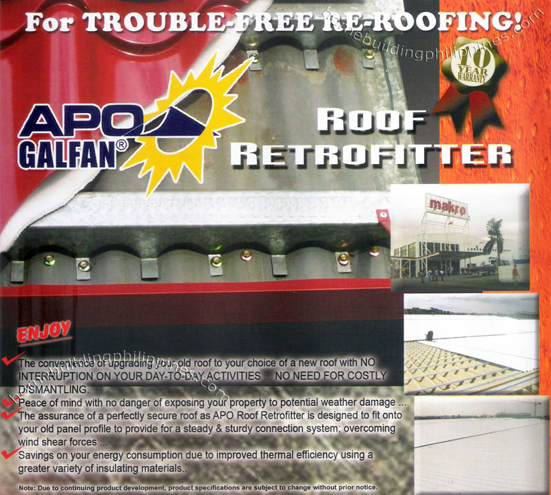 Retrofit Roof Roofing Retrofitter Philippines