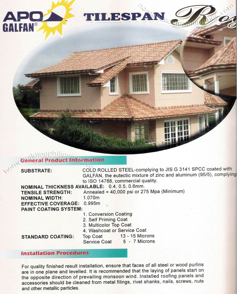 Tile Simulation Steel Roofing Designs Specifications