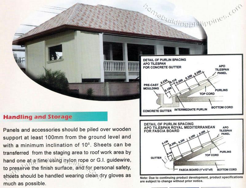 Tilespan Steel Roofing Handling Amp Storage Philippines