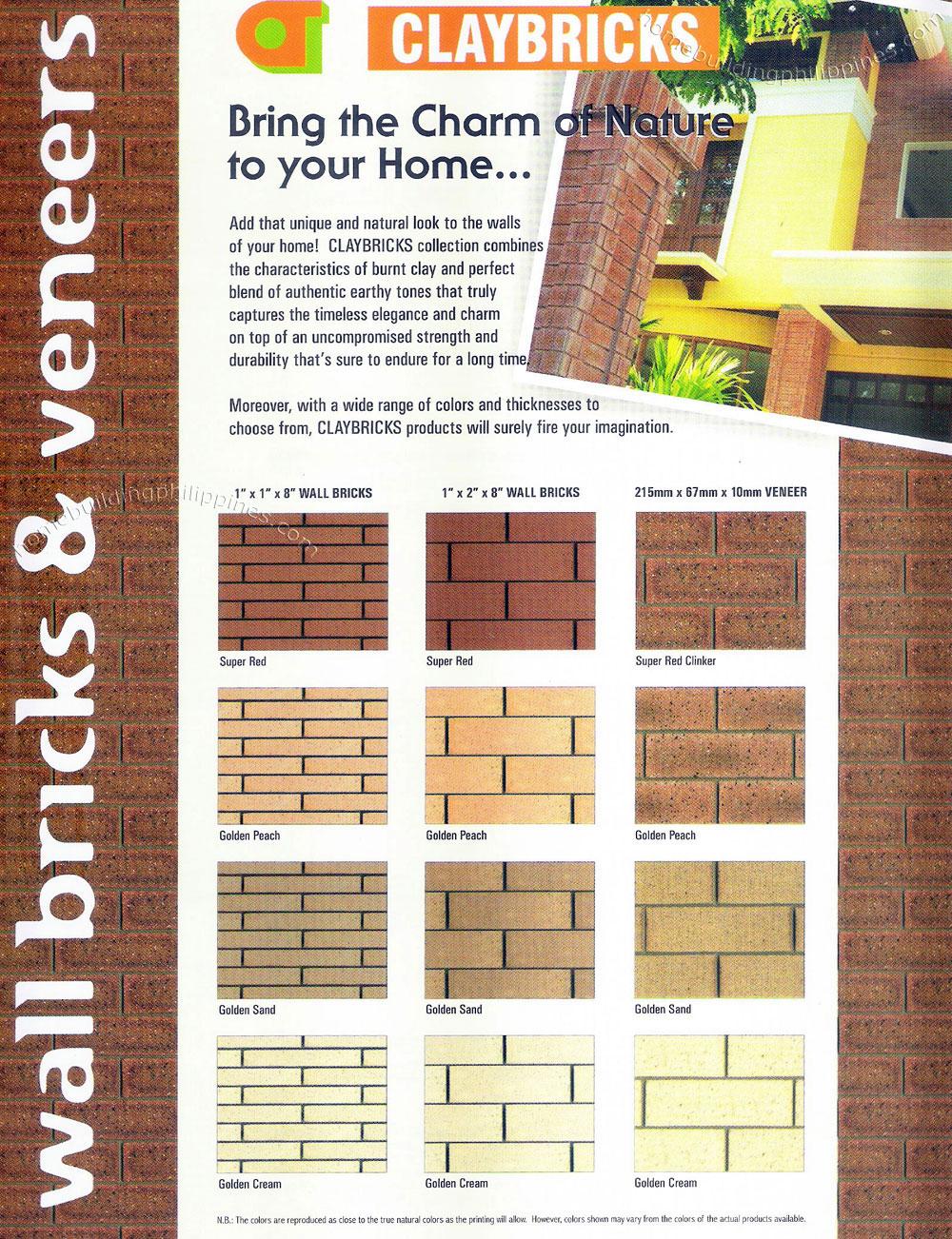 claybricks wall bricks amp veneers   natural look burnt clay