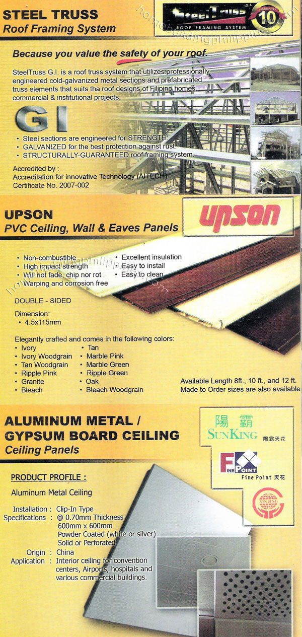 Steel Truss Roof Framing System Pvc Ceiling Wall And