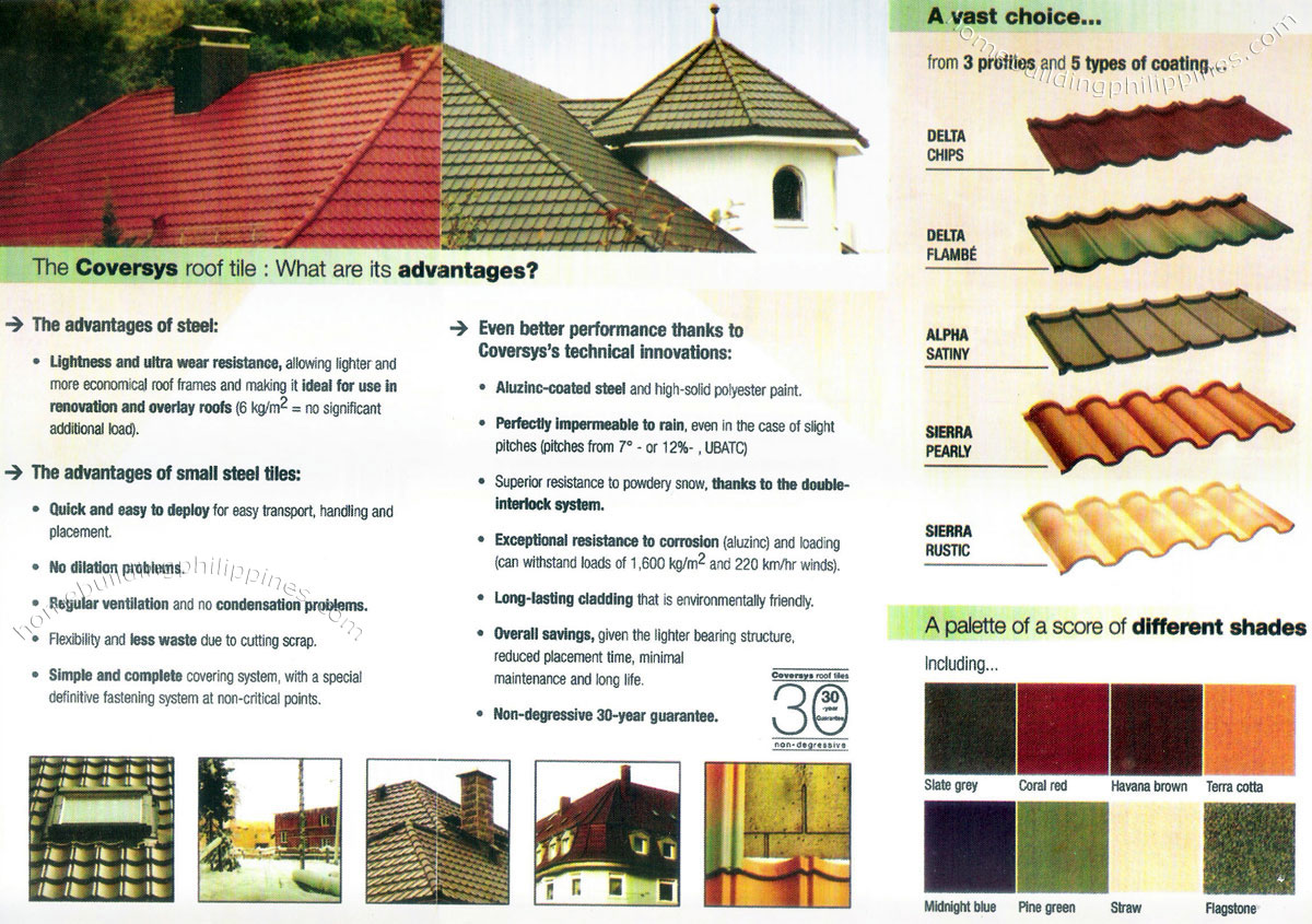 Coversys Steel Roof Tiles Philippines