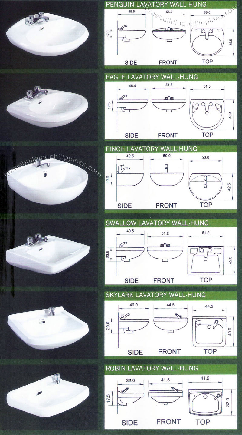Wall Mount Bathroom Lavatory Sink Design Philippines