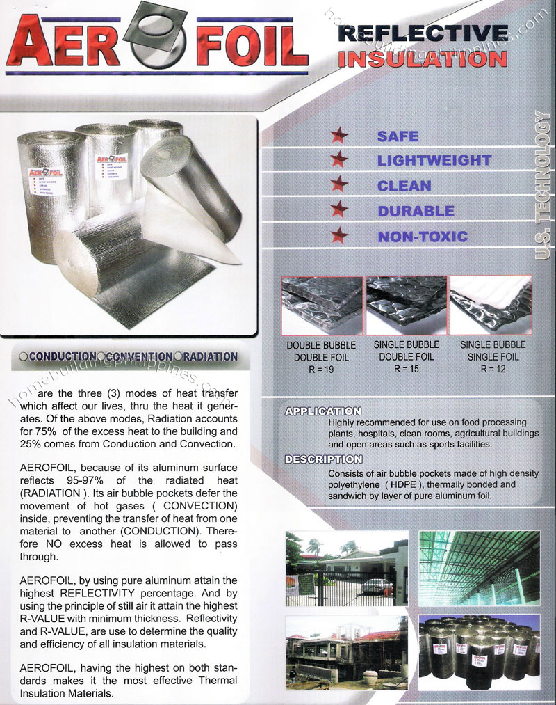 Aerofoil Aluminum Foil Reflective Thermal Insulation