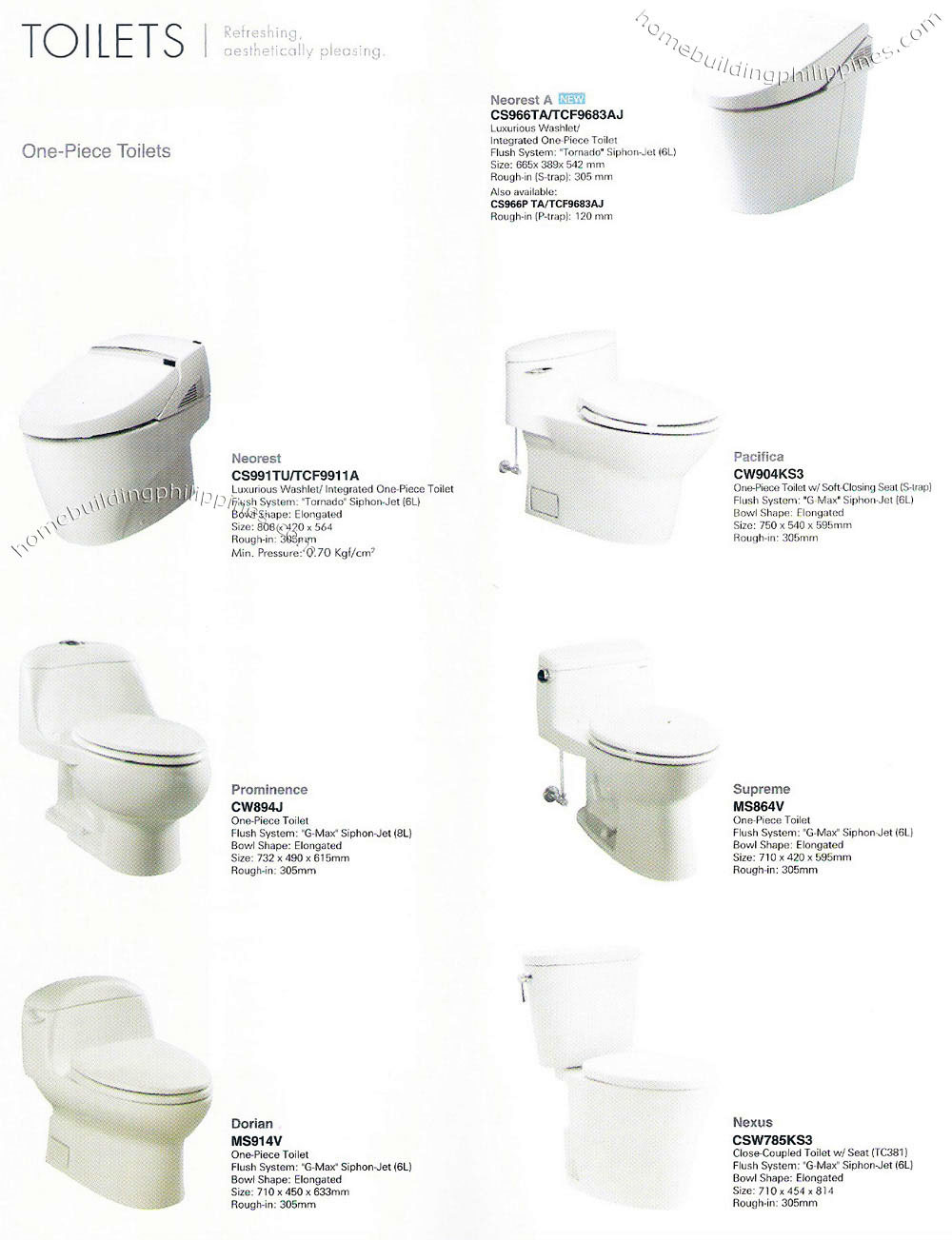 Bathroom & Shower Sets by Toto Philippines