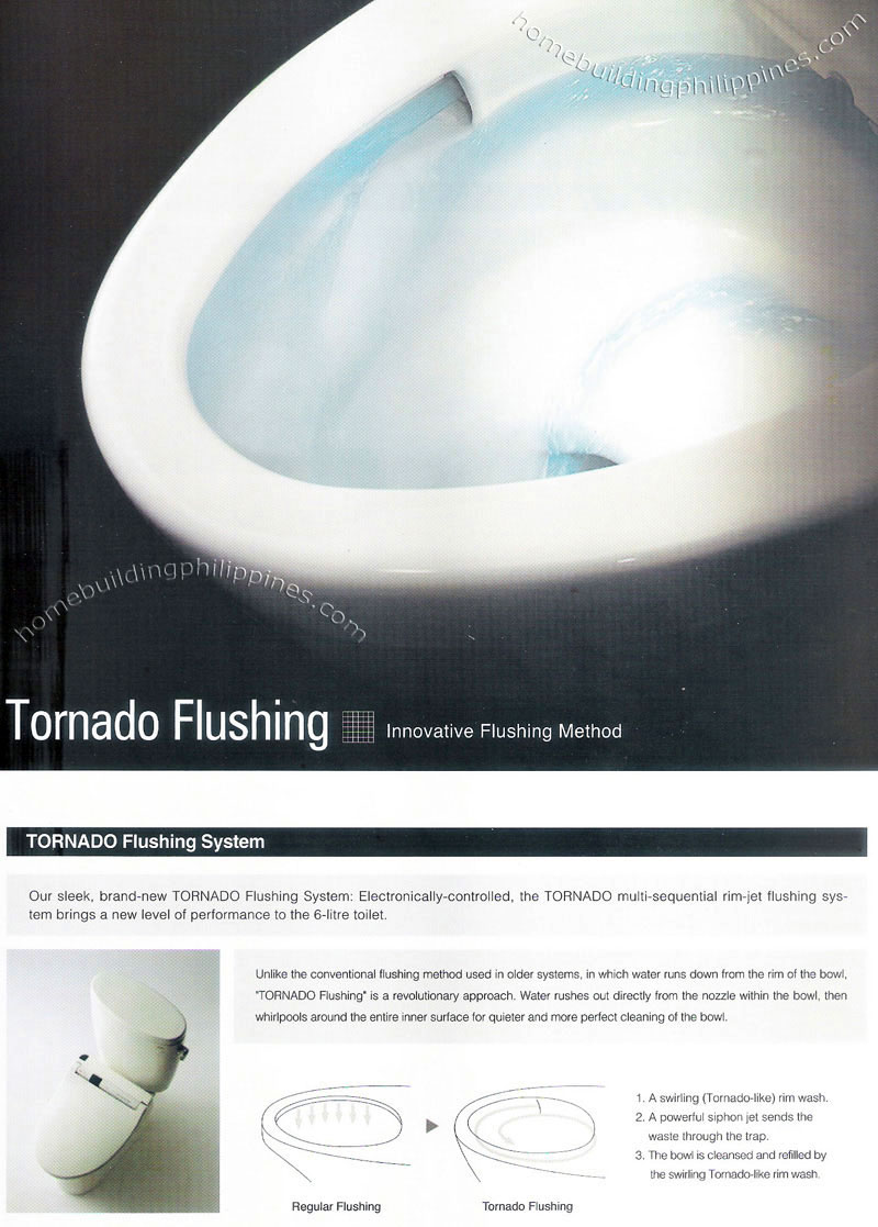 toto toilet tornado flushing system philippines. Black Bedroom Furniture Sets. Home Design Ideas