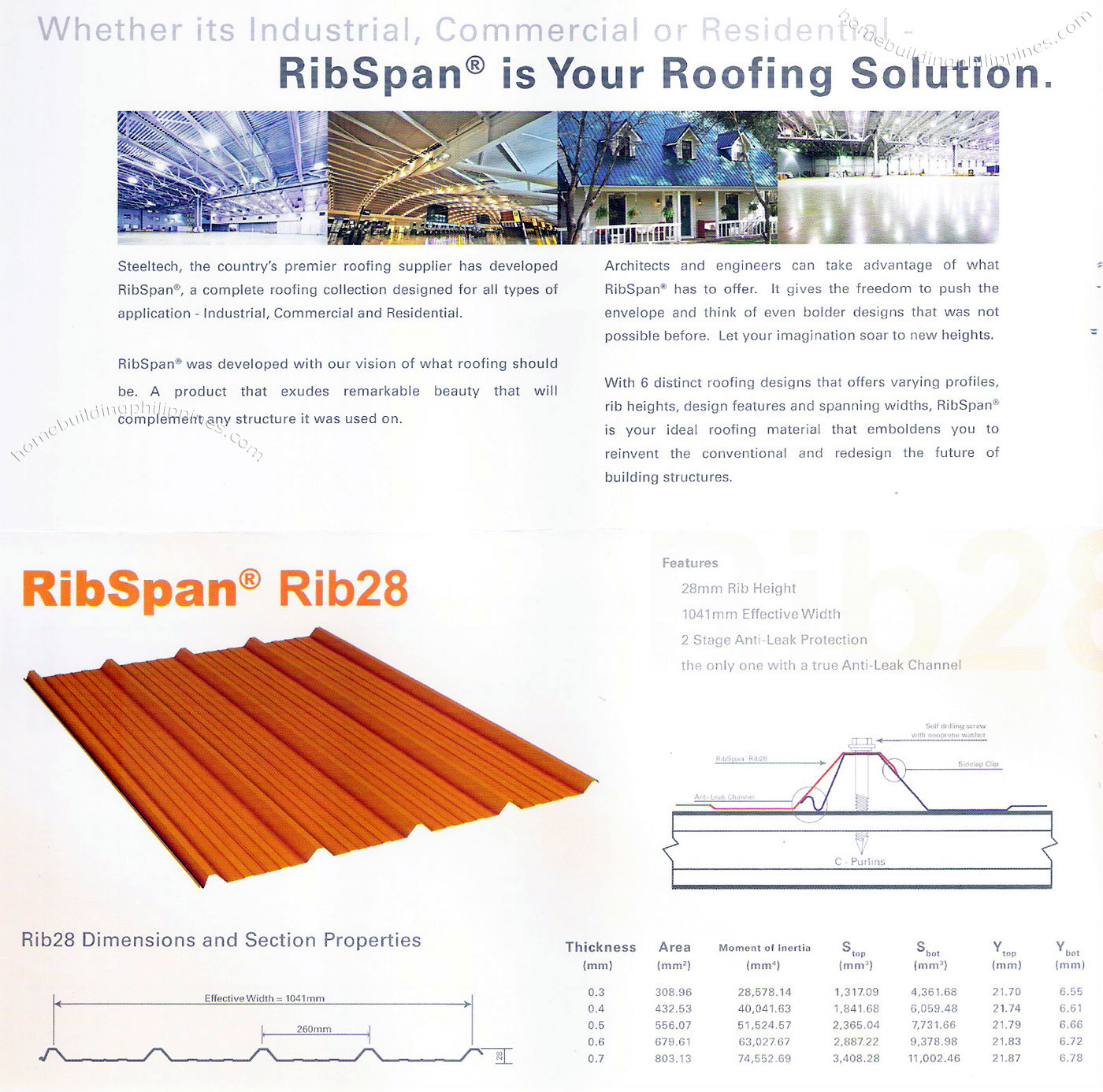 Ribspan Steel Roofing By Steeltech Philippines