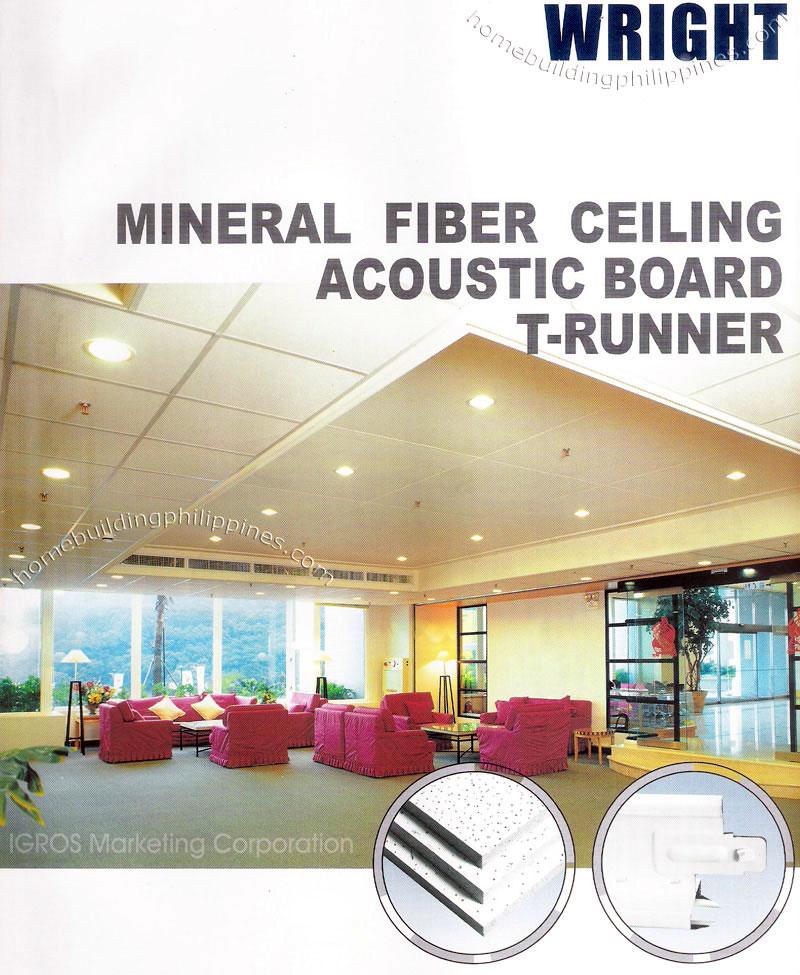 Mineral Fiber Ceiling Board Mineral Fiber Ceiling Acoustic