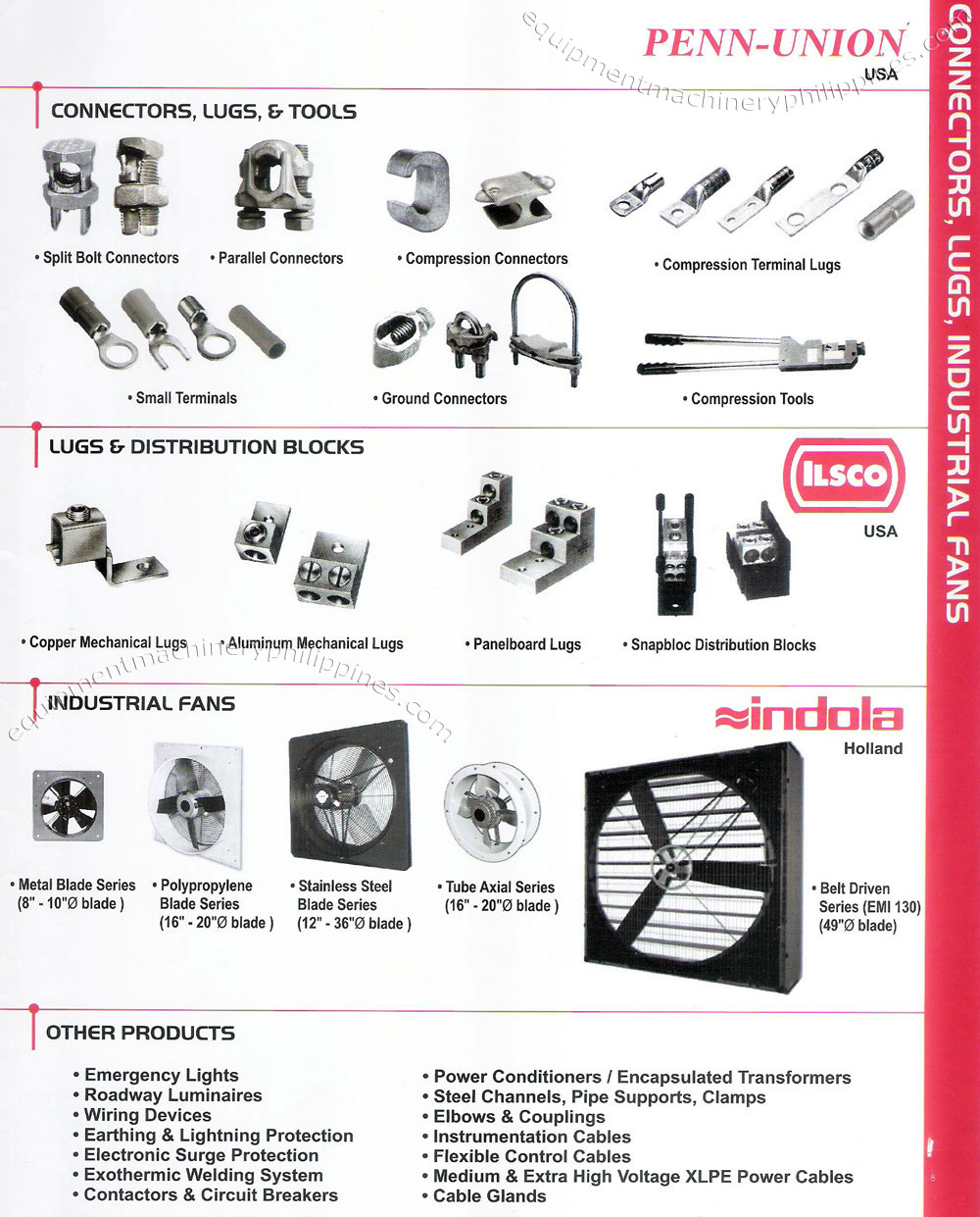 Wiring Devices Supplier Philippines Solutions Leviton Penn Union Connectors Lugs Tools Ilsco And Distribution