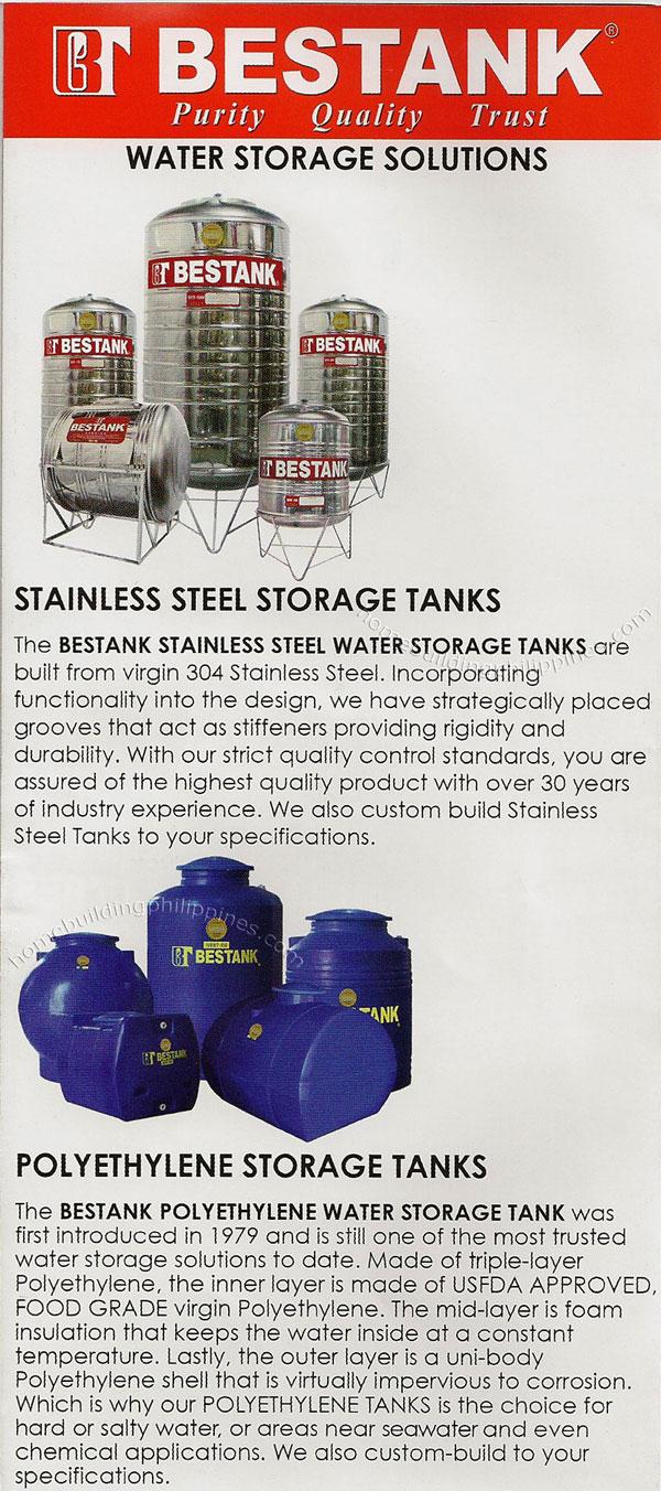 Bestank Stainless Steel Storage Tanks Polyethylene