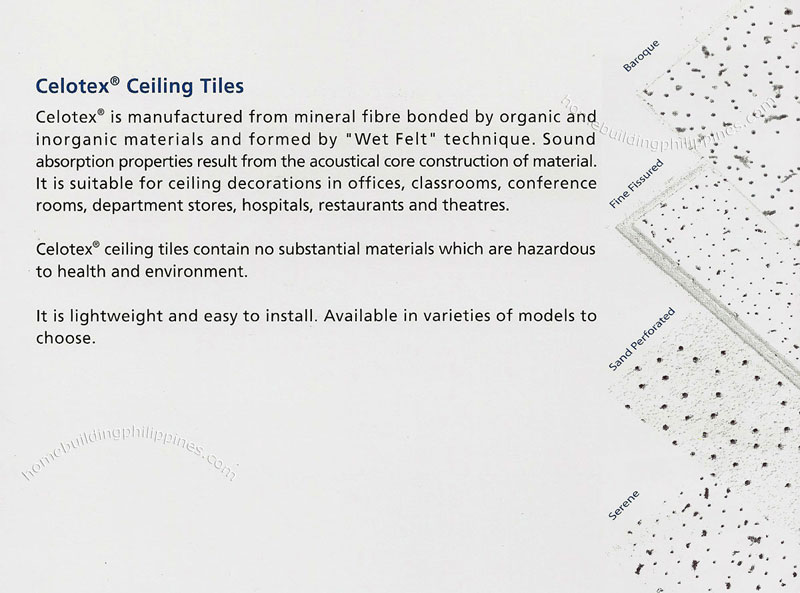 Celotex Ceiling Tiles From Mineral Fibre