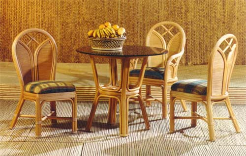 Rattan Buri Bamboo And Aluminum Synthetic Fiber