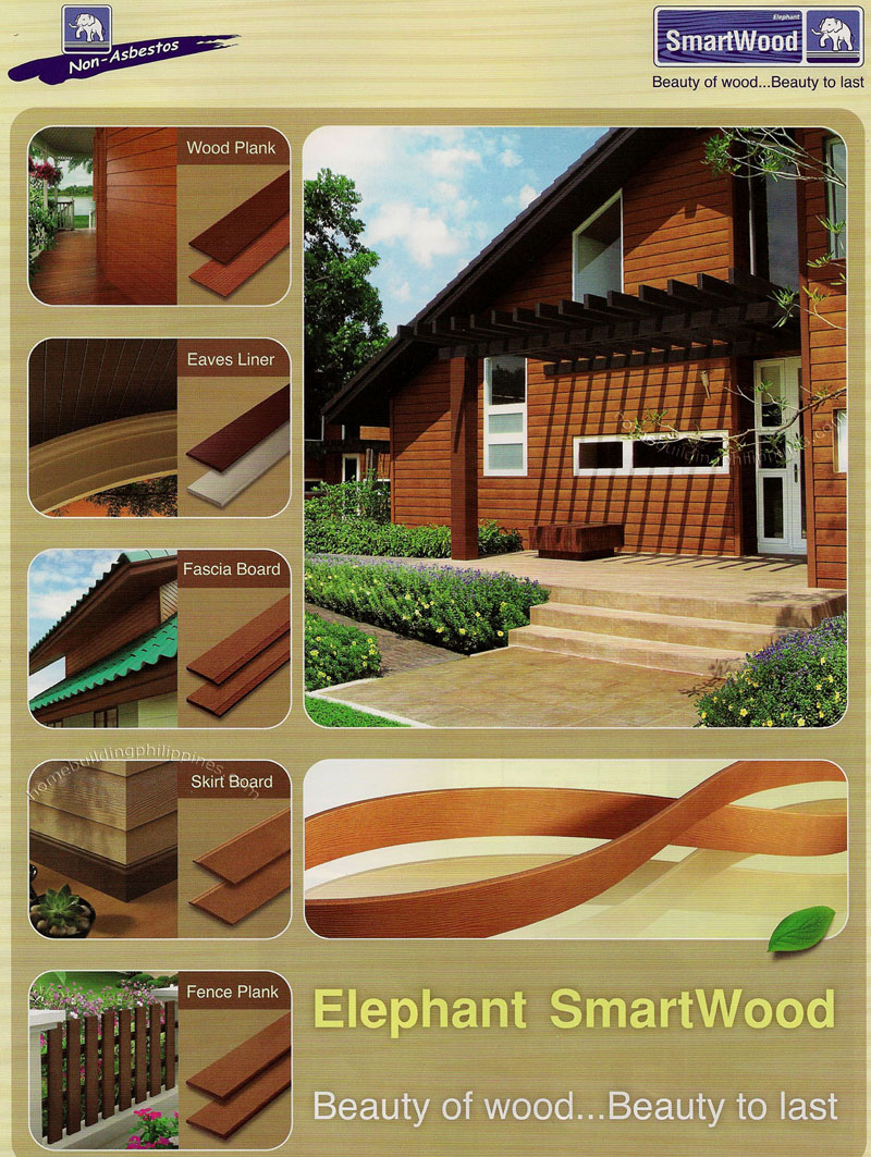 Elephant Non Asbestos Smartwood Wood Plank Eaves Liner