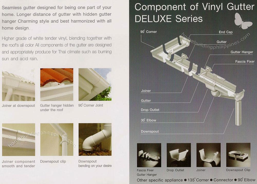 Windsor Vinyl Gutter System Deluxe Series Components