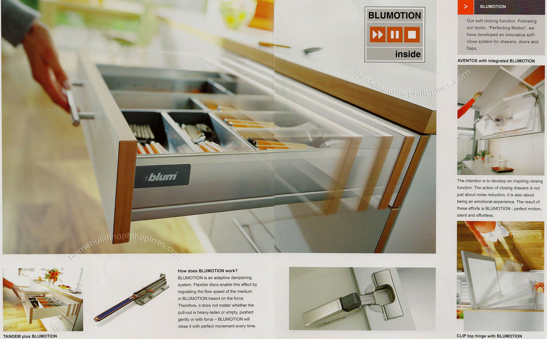 Blumotion Soft Close System For Drawers Doors And Flaps