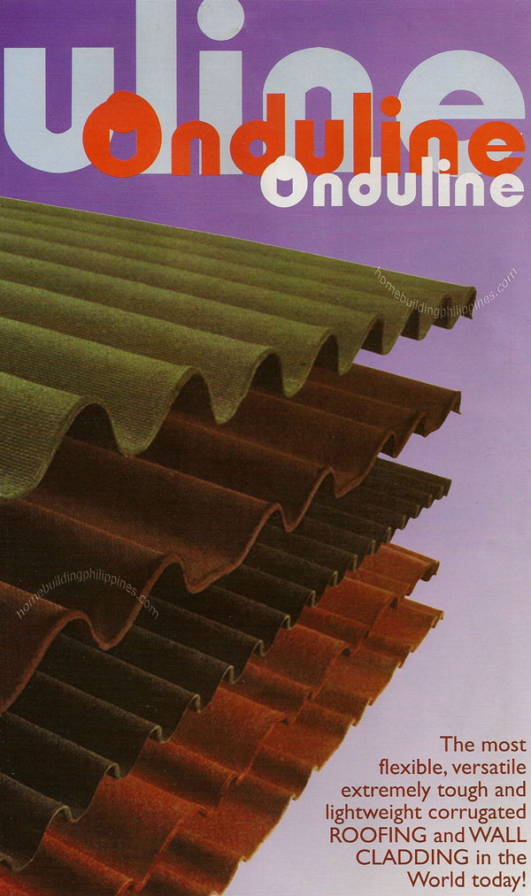 Onduline Roofing And Wall Cladding From Bitumen Saturated