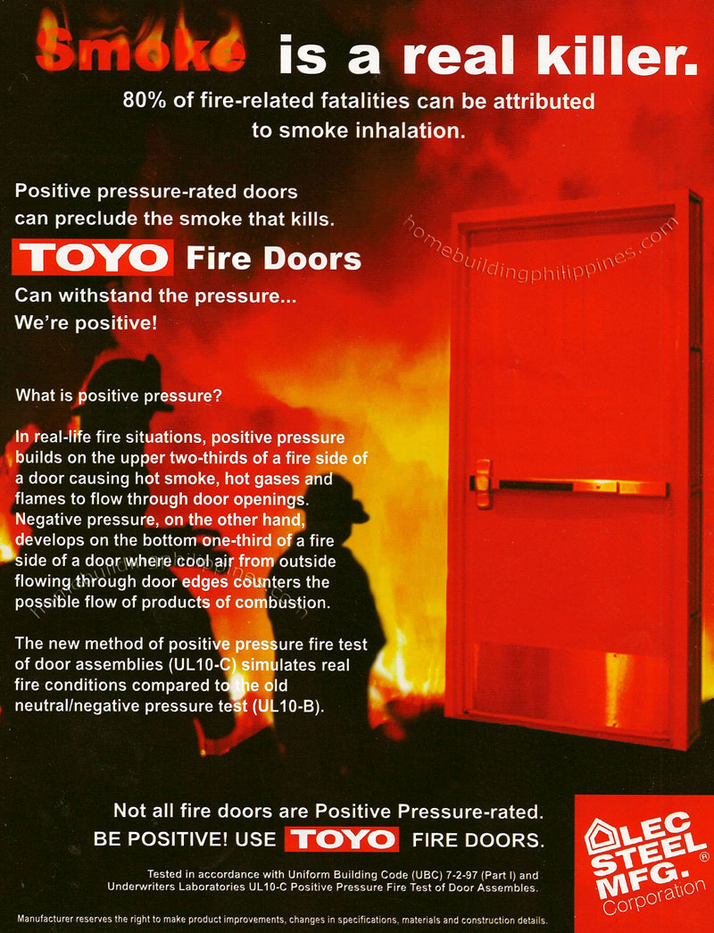 toyo fire rated steel doors and frames philippines