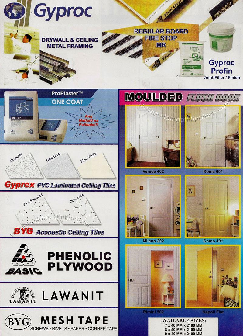 Gyproc Drywall And Ceiling Metal Framing Gyprex Pvc Laminated