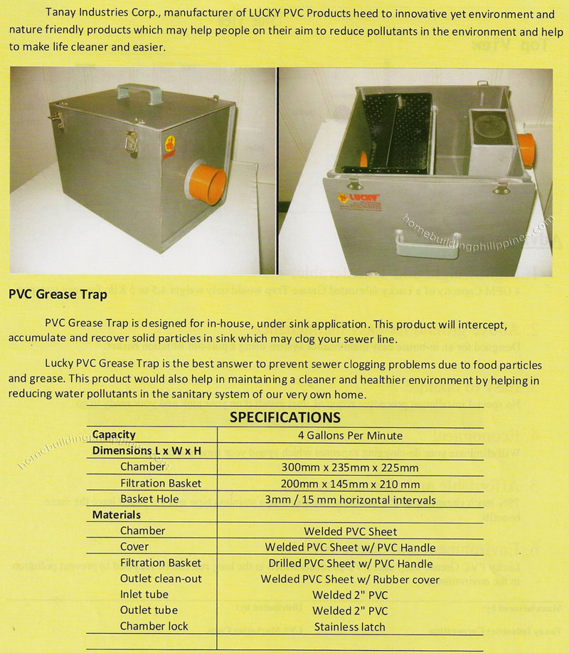 Pvc Grease Trap By Tanay Industries Corporation