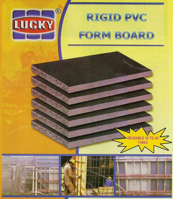 Rigid Pvc Form Board