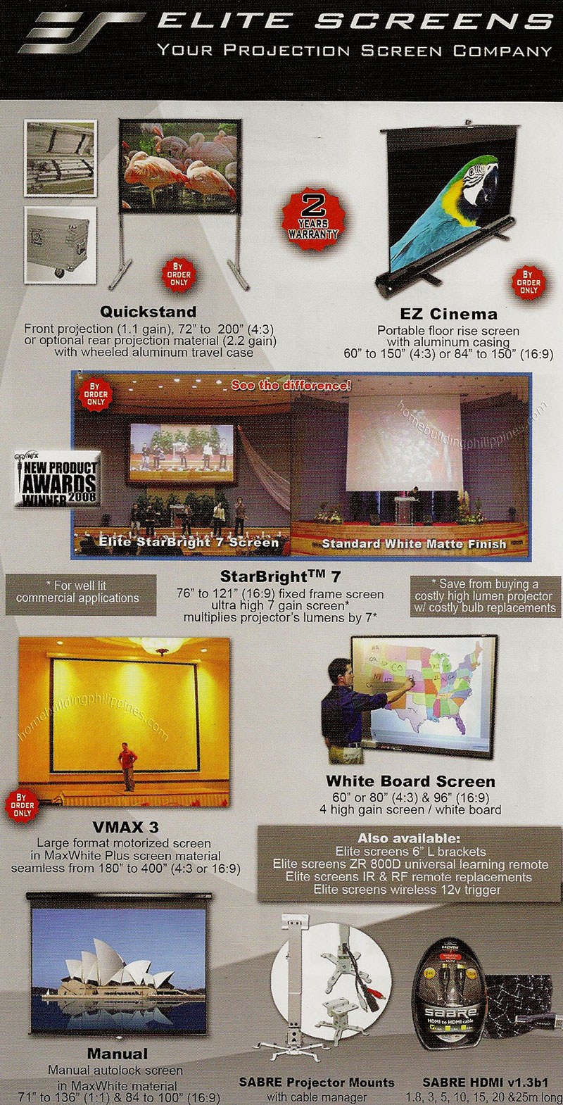 elite projection screens