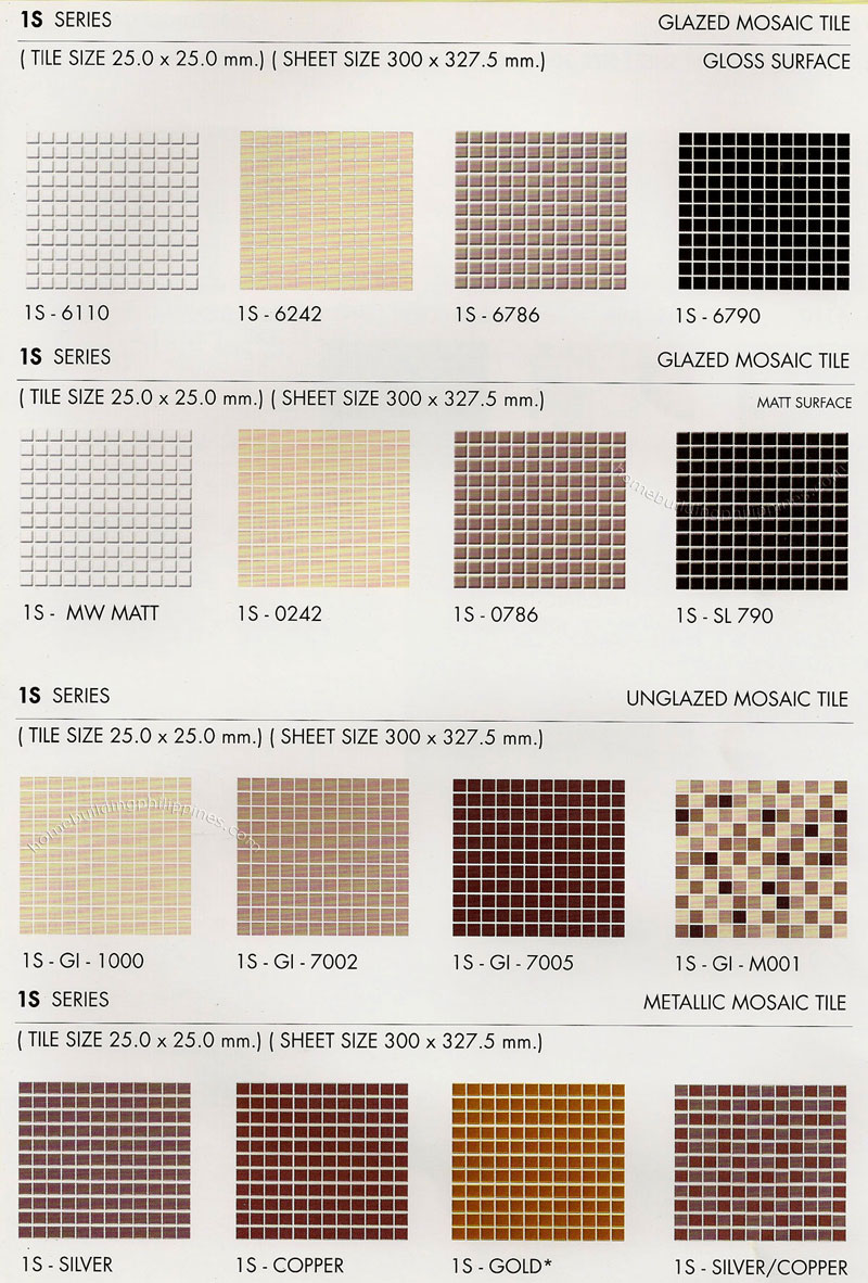 Glazed Mozaic Ceramic Tiles, Unglazed Mozaic Ceramic Tiles