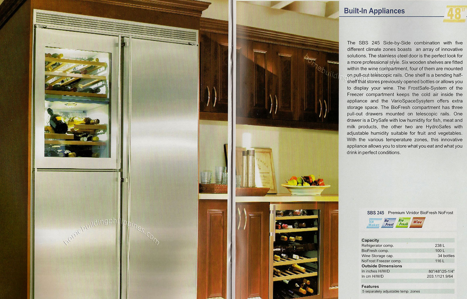 Built-in refrigerators: sizes, technical features 42