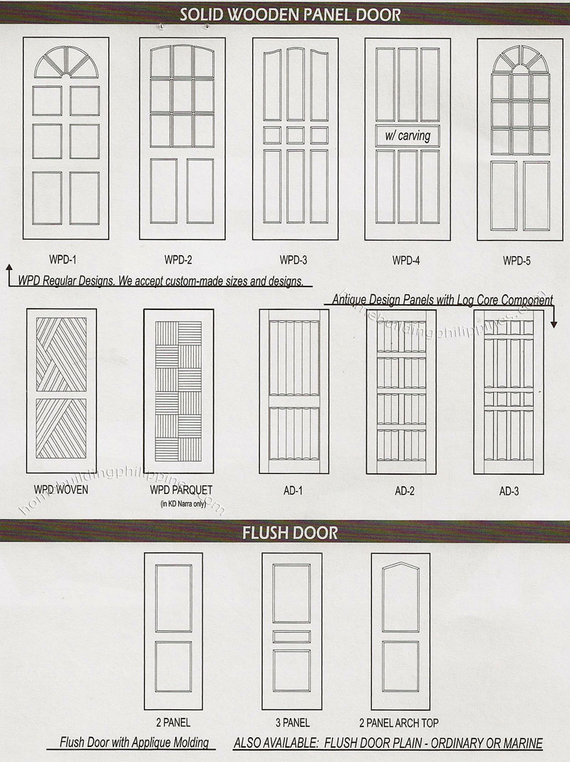 Solid Wooden Panel Door Flush Door