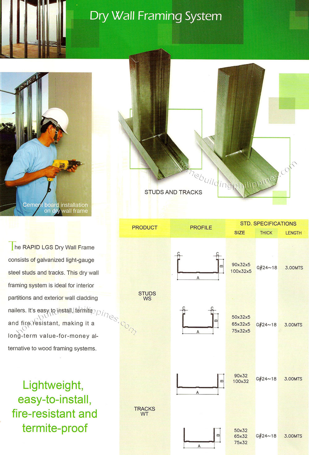 Dry Wall Framing System