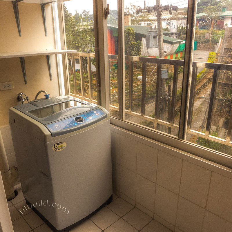 Baguio korean style condos at the zone vill by mirae construction laundry area with washing machine solutioingenieria Image collections