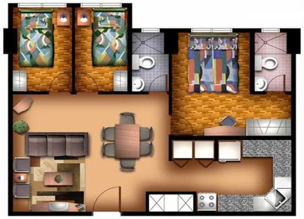 3 bed unit plans