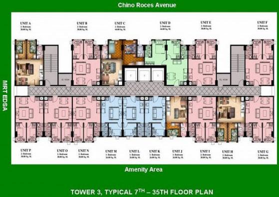Condo sale at san lorenzo place condos floor plans for Condominium building plans