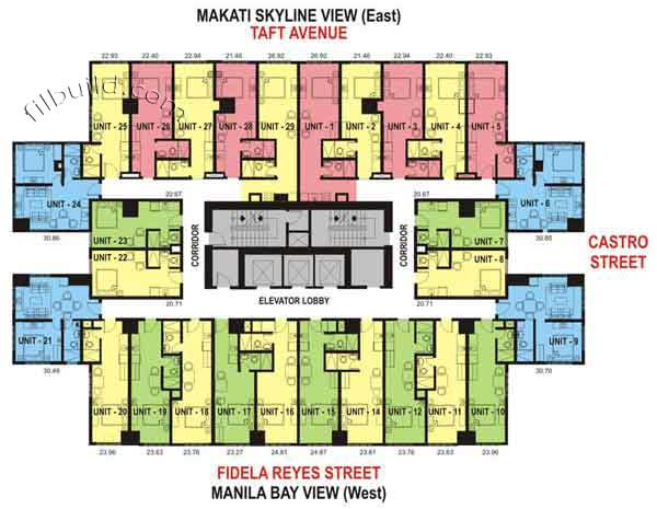 Condo sale at one archers place in manila by eton properties for Condominium floor plan