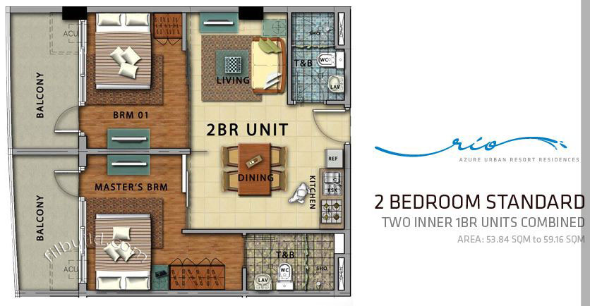 Condo sale at azure urban resort residences floor plans for Urban floor plans