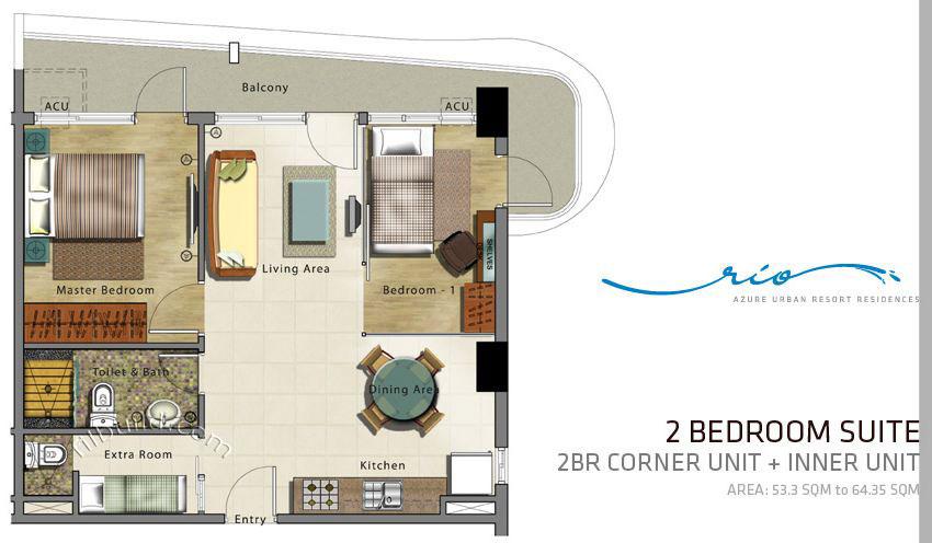condo designs condominiums in philippines joy studio 2 bedroom options at bridgeview condominiums at tempe town