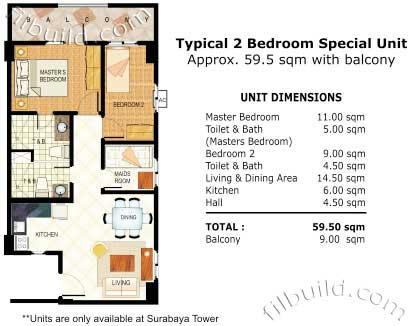 Condo sale at raya garden in para aque city by dmci homes for Real estate floor plan pricing