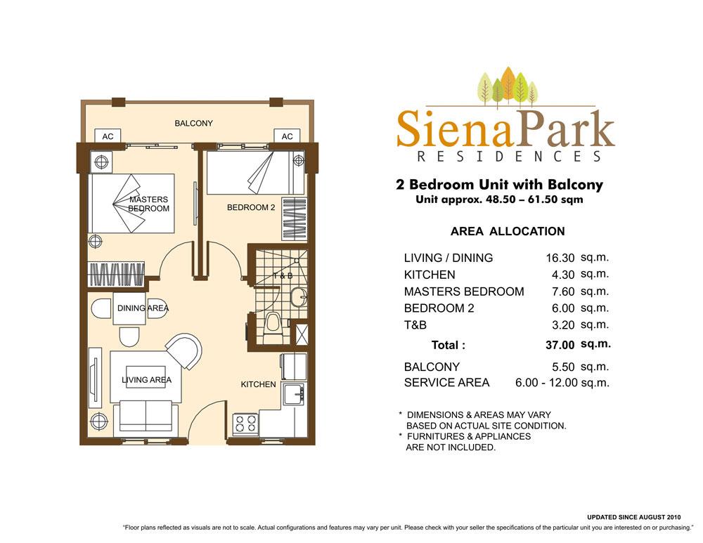 Condo Sale At Siena Park Residences Floor Plans