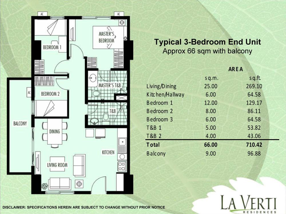 Condo Sale At La Verti Residences Condo Unit Floor Plans