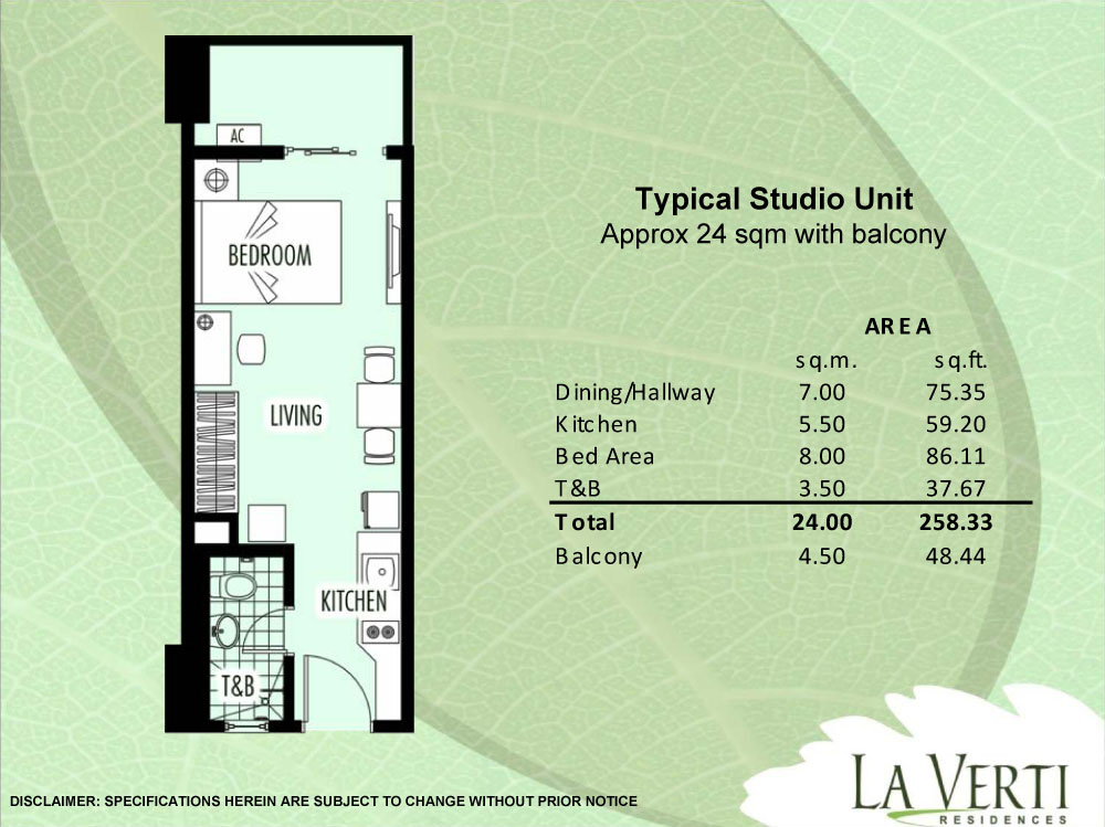 Condo sale at la verti residences condo unit floor plans for Floor plans philippines