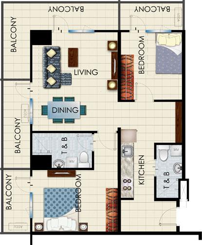 Condo Sale At Sea Residences Condominium Unit Floor Plans