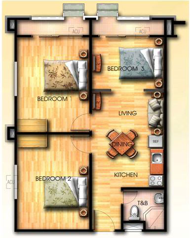 Condo sale at capri oasis pasig medium rise condos unit for 3 bedroom unit floor plans