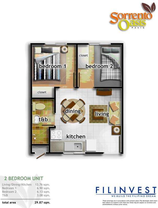 Condo Sale At Sorrento Oasis Condos Unit Floor Plans