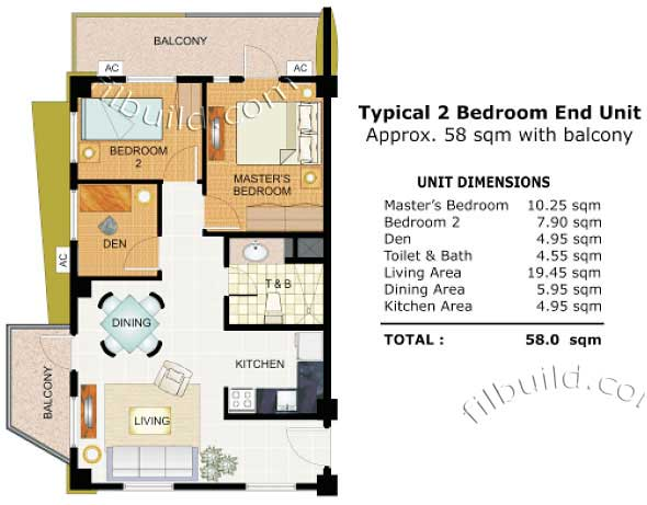 Condo sale at cypress towers in taguig city by dmci homes for Condominium floor plan
