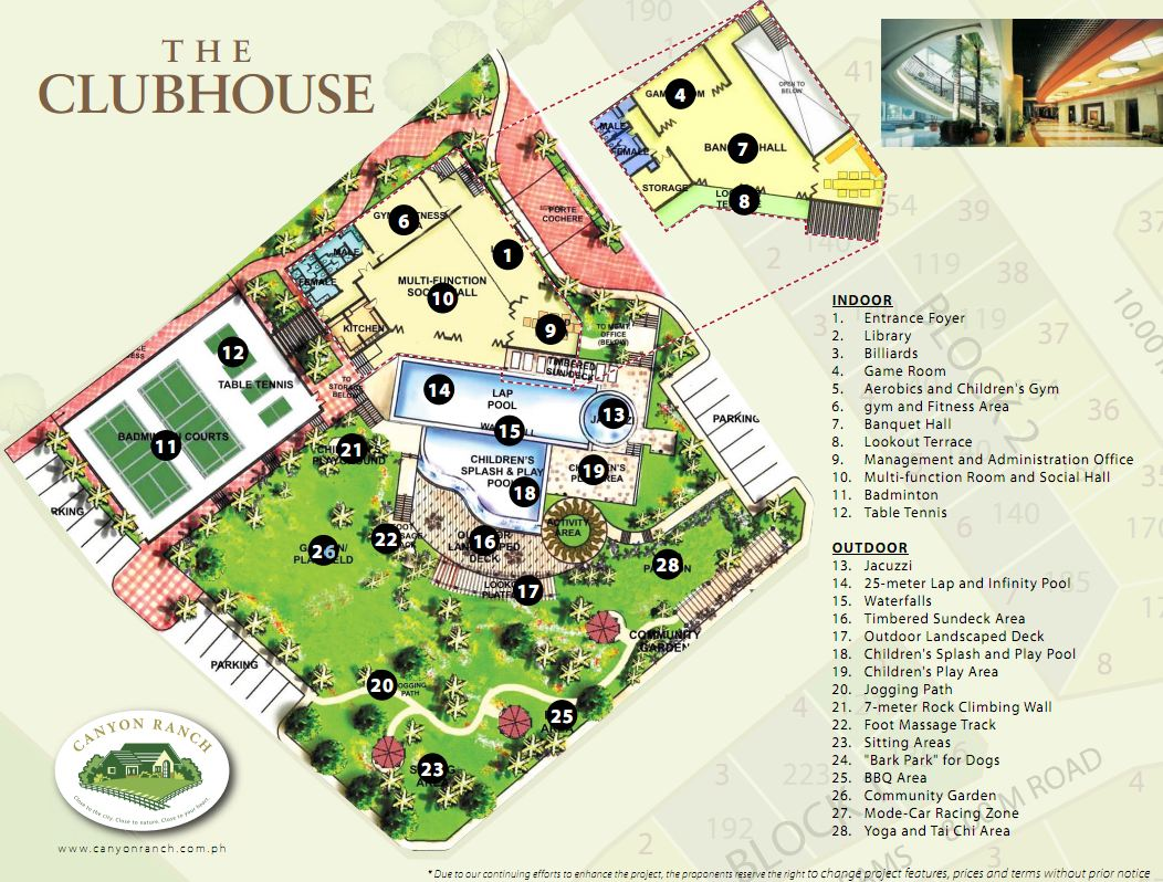 Clubhouse on house plans layout design