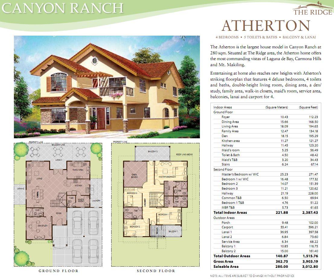 Real Estate Home Lot Sale at Canyon Ranch Homes - Atherton